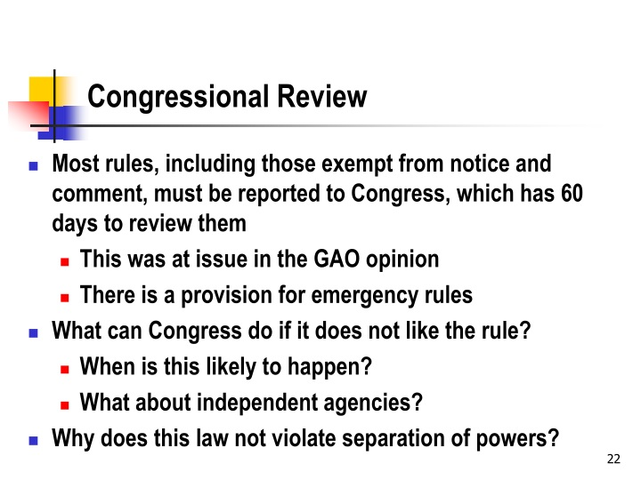 Congressional Review