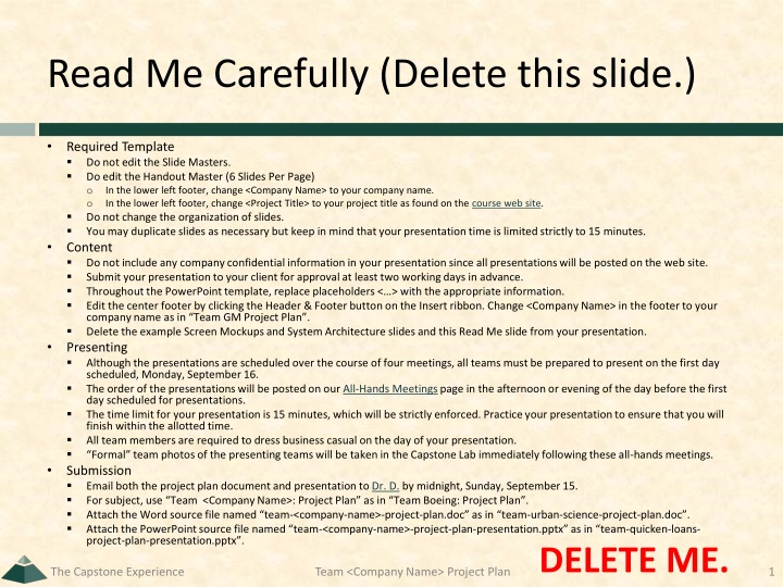 Read me carefully delete this slide