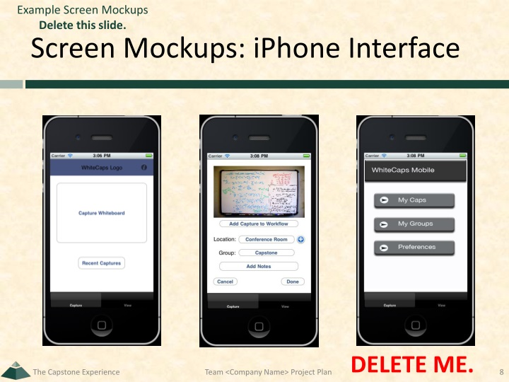 Example Screen Mockups