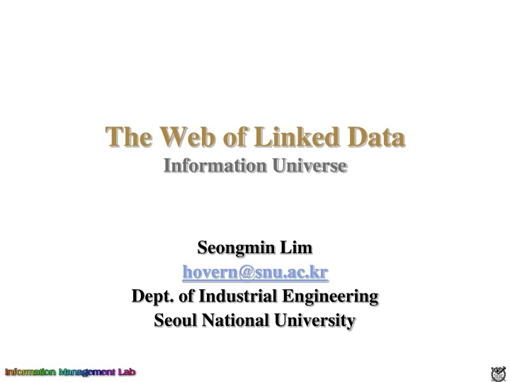 the web of linked data information universe n.