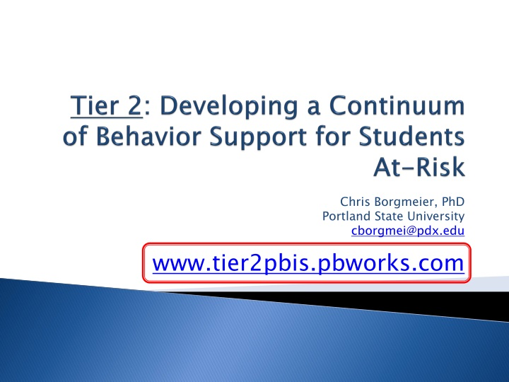 tier 2 developing a continuum of behavior support for students at risk n.