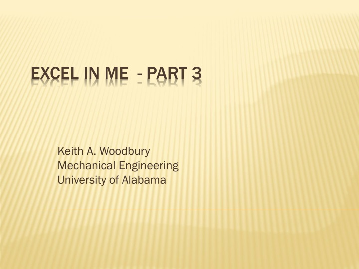 PPT - Excel in ME - Part 3 PowerPoint Presentation - ID:1507282