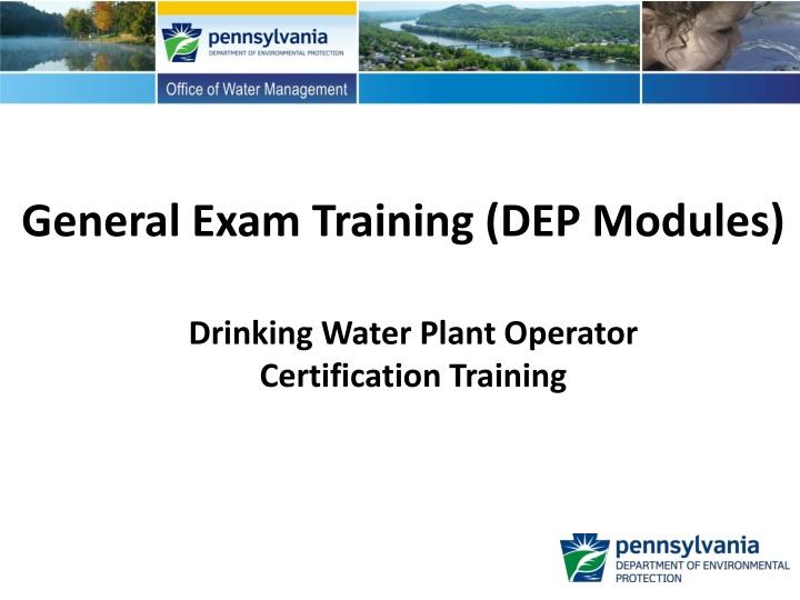 general exam training dep modules n.