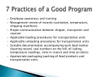 7 practices of a good program
