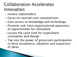 collaboration accelerates innovation