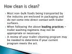 how clean is clean