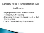 sanitary food transportation act