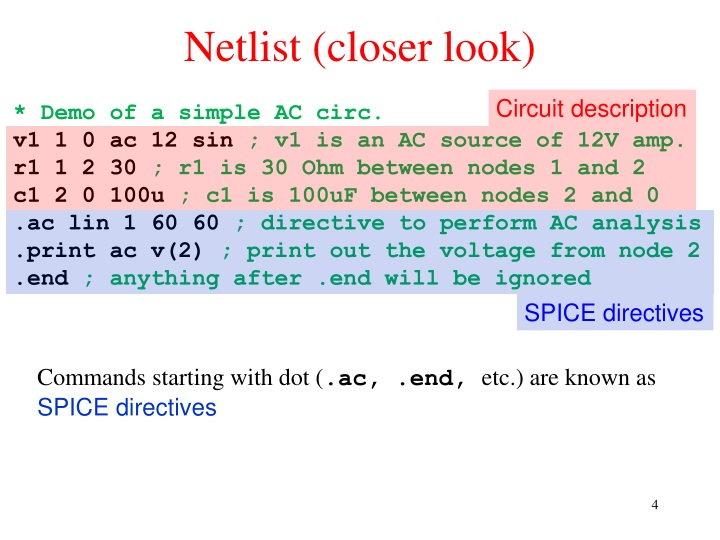 PPT - Computer Modeling of Electronic Circuits with LT spice