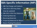 sba specific information mp