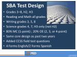 sba test design