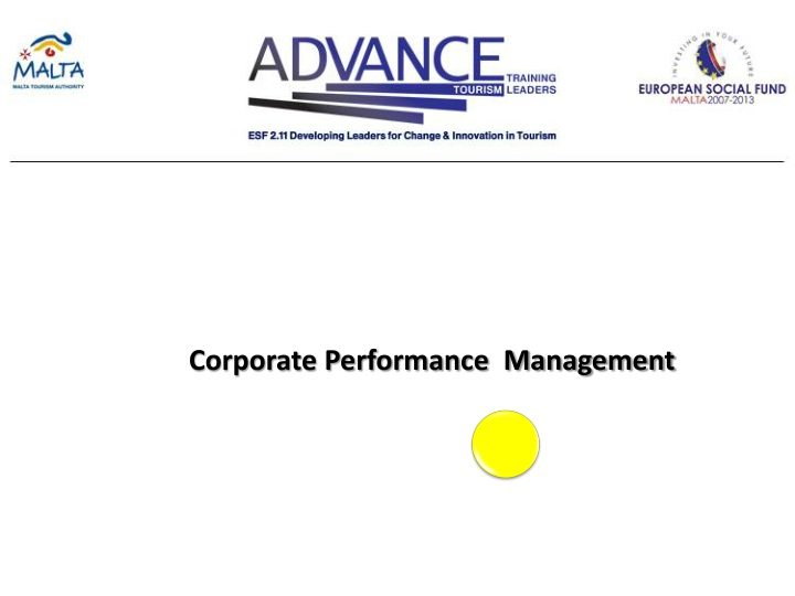 corporate performance management n.