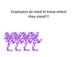 employees do need to know where they stand