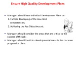 ensure high quality development plans