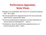 performance appraisals some views