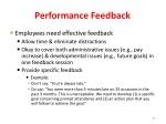performance feedback