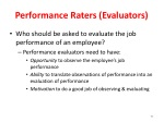performance raters evaluators