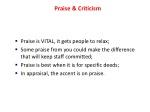 praise criticism