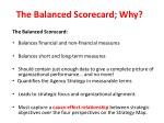 the balanced scorecard why