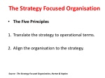 the strategy focused organi s ation