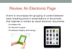 review an electronic page