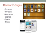 review e pages