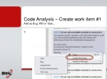 code analysis create work item 1 add as bug pbi or task