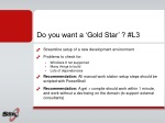 do you want a gold star l3