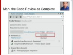 mark the code review as complete