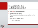 suggestions for doco eg enterprise architect