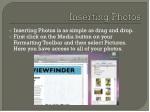 inserting photos