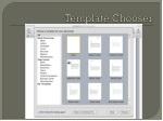 template chooser