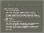 word processing vs page layout