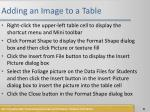 adding an image to a table