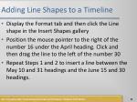 adding line shapes to a timeline