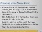 changing a line shape color