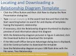 locating and downloading a relationship diagram template