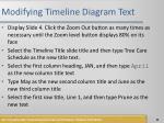 modifying timeline diagram text