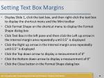 setting text box margins