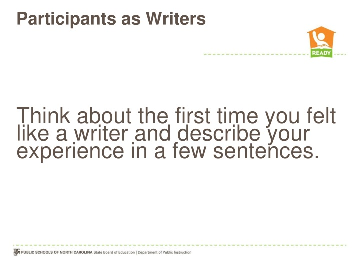 participants as writers n.