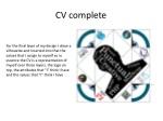 cv complete