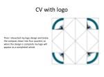 cv with logo