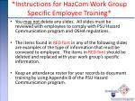 instructions for hazcom work group specific employee training1