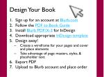 design your book