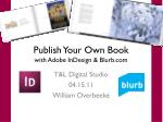 publish your own book with adobe indesign blurb com