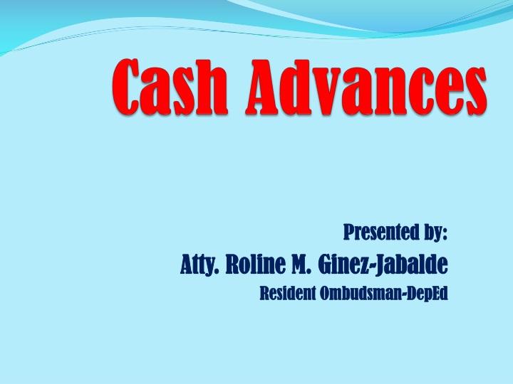 cash advances n.
