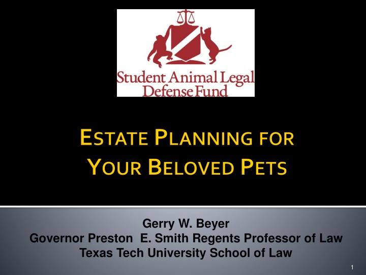 estate planning for your beloved pets n.