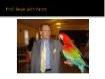 prof beyer with parrot