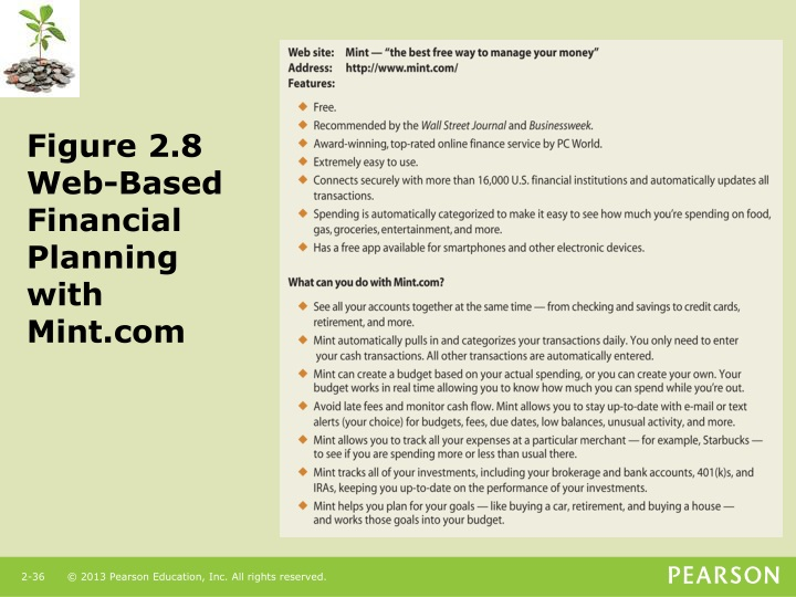 Figure 2.8  Web-Based Financial Planning with Mint.com