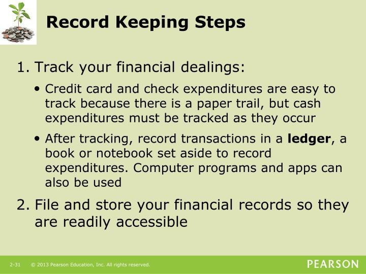 Record Keeping Steps