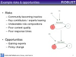 example risks opportunities